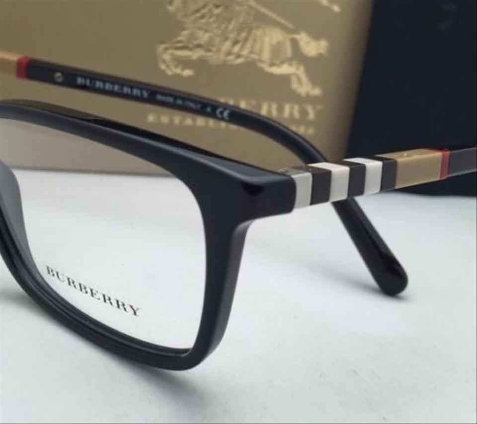 Burberry B 2199 3001 55 17 Black Frame Plaid W Clear