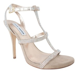 Steve Madden Evening Crystals Nude, Gold, Sparkly Sandals