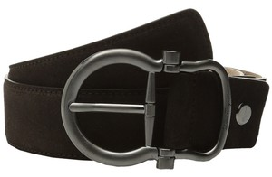 Salvatore Ferragamo Salvatore Ferragamo Men's Adjustable Belt in Brown Suede Size 44