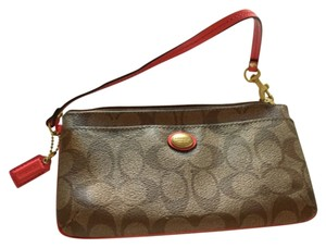 Coach Wristlet in Brown/Tan