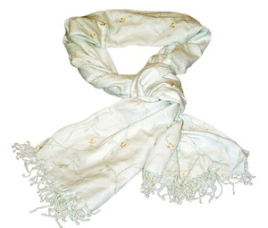 Lord & Taylor Floral cotton blend fringe scarf wrap