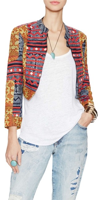 Free People Indigo Combo Jacket