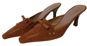 Arturo Chiang Brown All Leather Tan-Brown Sandals