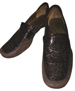 Sesto Meucci Loafer Leather Suede Brown Flats