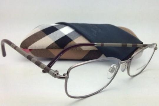 Burberry New BURBERRY Eyeglasses B 1221 1003 54-17 Gunmetal Frame with Clear Demo Lenses