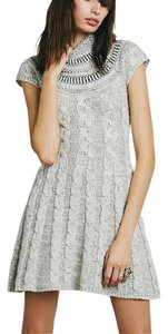 Free People short dress ivory heather Nordic Sweater on Tradesy