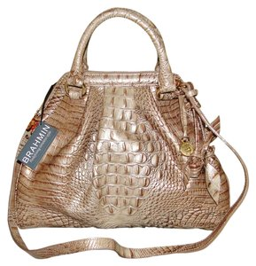 Brahmin Lady Melbourne Roses Satchel in Aztec