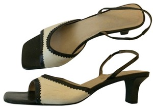 Ann Taylor Beige/ Black Sandals