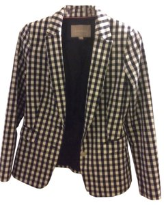 Banana Republic blue and white Blazer