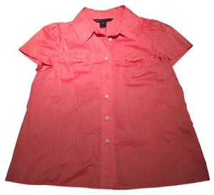 Marc Jacobs Bows Bow Adorable Unique Button Down Shirt Coral