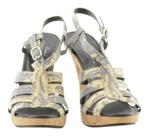 Donald J. Pliner J. Snakeskin Gray, tan Sandals