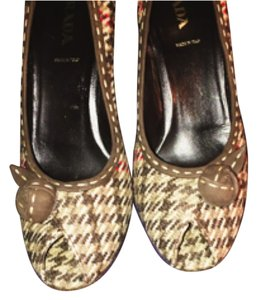 Prada Vintage Tweed Houndstooth Tweed, multi Pumps