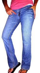 A|X Armani Exchange Ax Love Style Sexy Shoechic30 Boot Cut Jeans-Medium Wash