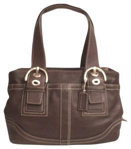 Coach Leather Vintage Satchel Tote Shoulder Bag