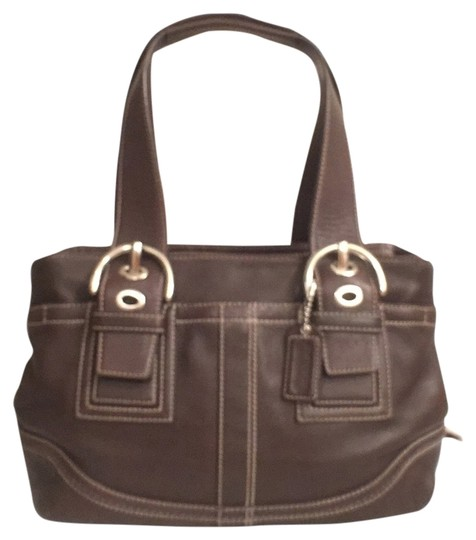 Preload https://item2.tradesy.com/images/coach-f10911-tote-brown-silver-leather-satchel-12915226-0-1.jpg?width=440&height=440