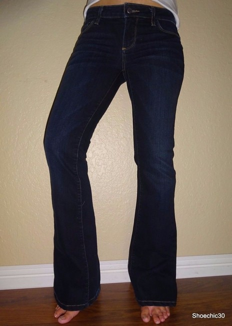 Laurel Canyon Paige Paige Adrk Rinse Style Sexy Shoechic30 Love Date Boot Cut Jeans-Dark Rinse