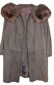 Fur and Suede Coat Fur Coat