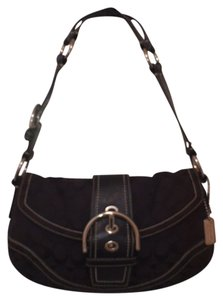 Coach Leather Signature Logo Hobo Bag