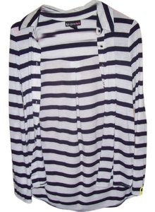 Self Esteem Button Down Shirt white and blue stripes