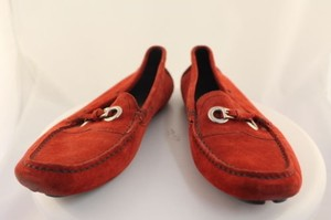 Prada Womens Moccasins Red Flats