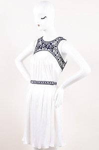 Carolina Herrera short dress White Navy on Tradesy