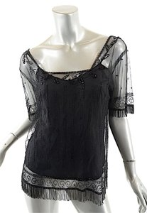 Vivienne Tam Beaded Top Black