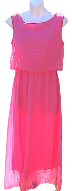 Preload https://item3.tradesy.com/images/pink-chiffon-long-casual-maxi-dress-size-8-m-12917452-0-1.jpg?width=400&height=650