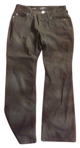 Ann Taylor LOFT Curvy Boot Cut Boot Cut Pants grey