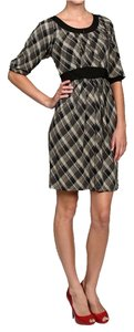Rabbit Rabbit Rabbit Plaid Grey Jersey Knee-length Dress
