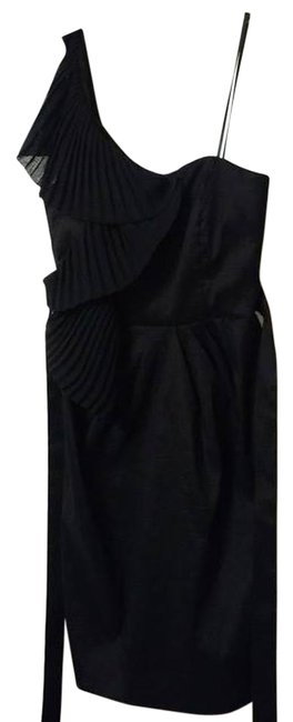 Preload https://item4.tradesy.com/images/black-modern-one-strap-with-fan-detailing-mid-length-cocktail-dress-size-2-xs-12918223-0-4.jpg?width=400&height=650
