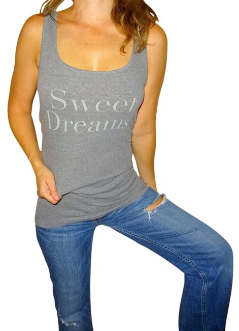 Item - Grey Gray Sweet Dreams Womens Ribbed | | Tank Top/Cami Size 8 (M)