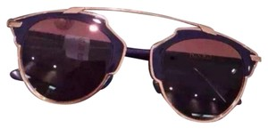 Dior 'So Real' 48mm Mirrored Sunglasses GOLD NAVY/GREY MIRROR PINK