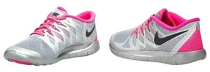 Nike Sneakers Youth Sneakers Pink and Gray Athletic