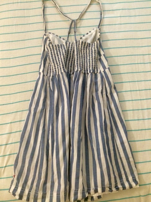 Hollister short dress Blue/White on Tradesy