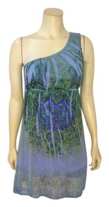 Johnny Martin short dress blue, gray, green, gray Size Small Stretchy P1970 on Tradesy