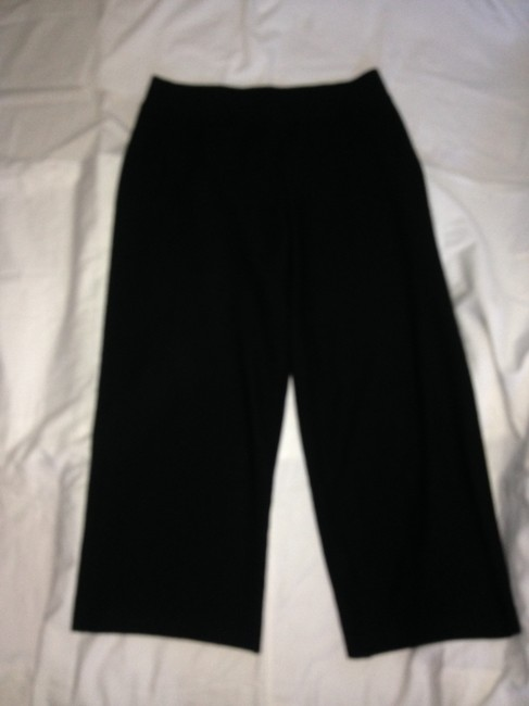 Eileen Fisher Wool Wide Leg Pants Black