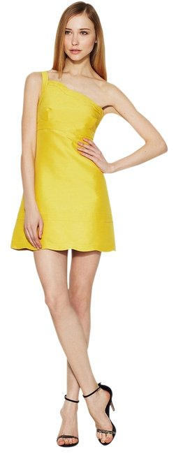 Preload https://item2.tradesy.com/images/valentino-yellow-scalloped-one-shoulder-short-cocktail-dress-size-8-m-12920671-0-1.jpg?width=400&height=650
