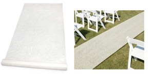 Hortense B. Hewitt Ivory Floral Delicate Floral Lace Design Or Special Occasion Theme Aisle Runner