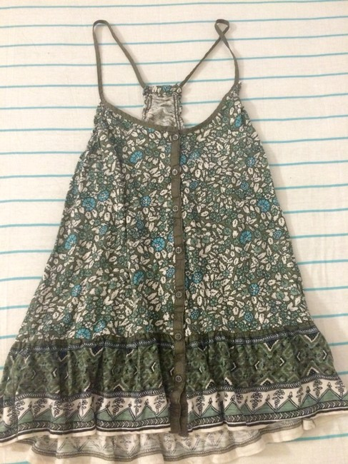 American Eagle Outfitters Top Green Floral