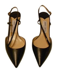Jimmy Choo Mandy 141 Patent Leather And Leather Upper Chic And Sophisticated Made In Italyi Black Pumps
