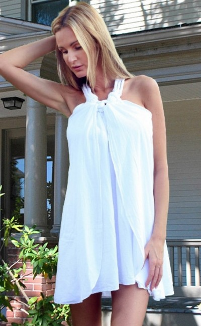 Lirome short dress White Organic Unique Resort Sexy A-line on Tradesy