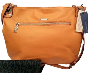 Rebecca Minkoff Leather Tan Satchel Messenger Hobo Bag