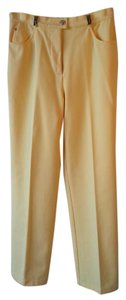 St. John Sport Straight Pants Yellow