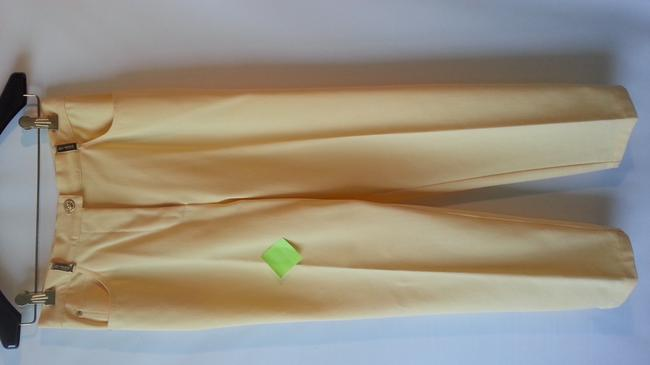St. John Sport Jeans Straight Pants Yellow
