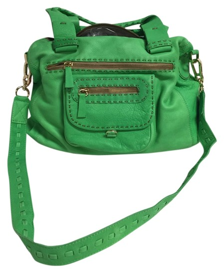 Carla Mancini Satchel in Kelly Green
