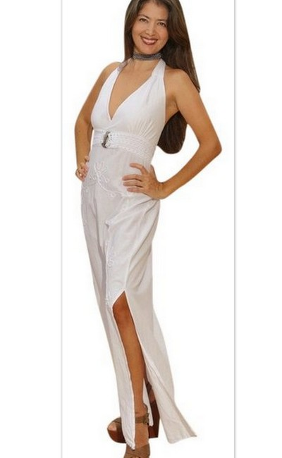 White Maxi Dress by Lirome Resort Summer Beach Vacation Organic