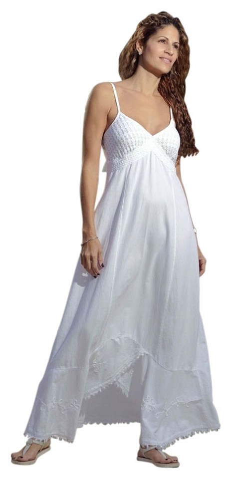 8d3d676449d1 White Maxi Dress by Lirome Cottage Chic Resort Beach Wedding Image 0 ...