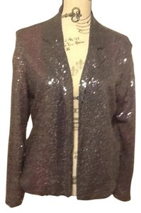 Bobeau Sparkle Long Sleeve Elegant Top Purple/Silver/Maroon