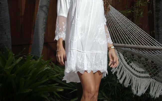 Lirome short dress White Lace Cottage Chic Resort on Tradesy