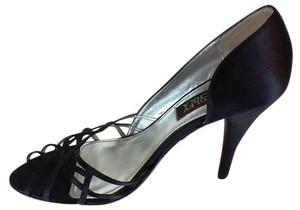 Badgley Mischka Classy Sexy D'orsay Evening Pump Black Satin Formal